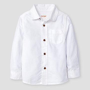 Toddler Boys' Button Down Shirt Cat & Jack™ - White Oxford