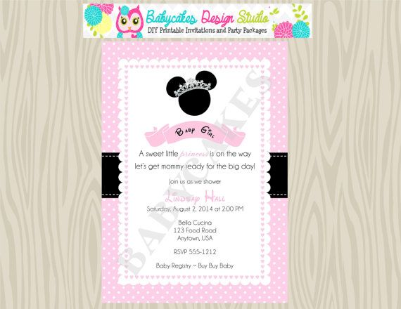 baby shower invitation minnie mouse baby by jcbabycakes baby