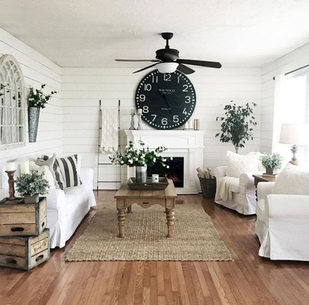 44 Rustic Farmhouse Living Room Decor Ideas | Farmhouse living room ...