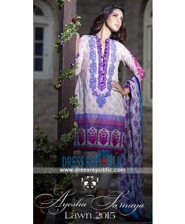 Designer Ayesha Somaya Lawn Dresses Collection 2015 New York