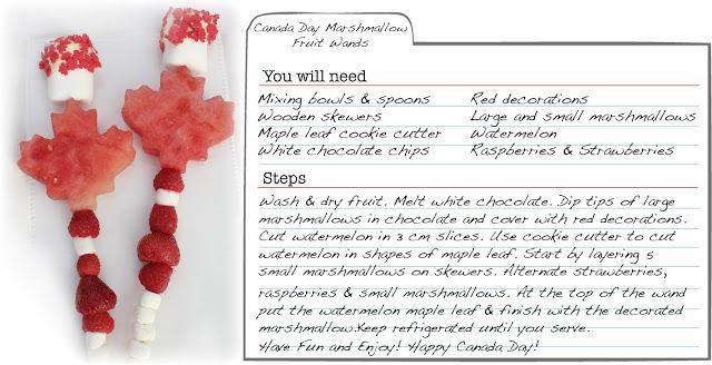 Christys Sweet Life - Canada day desert fruit marshmallow pops