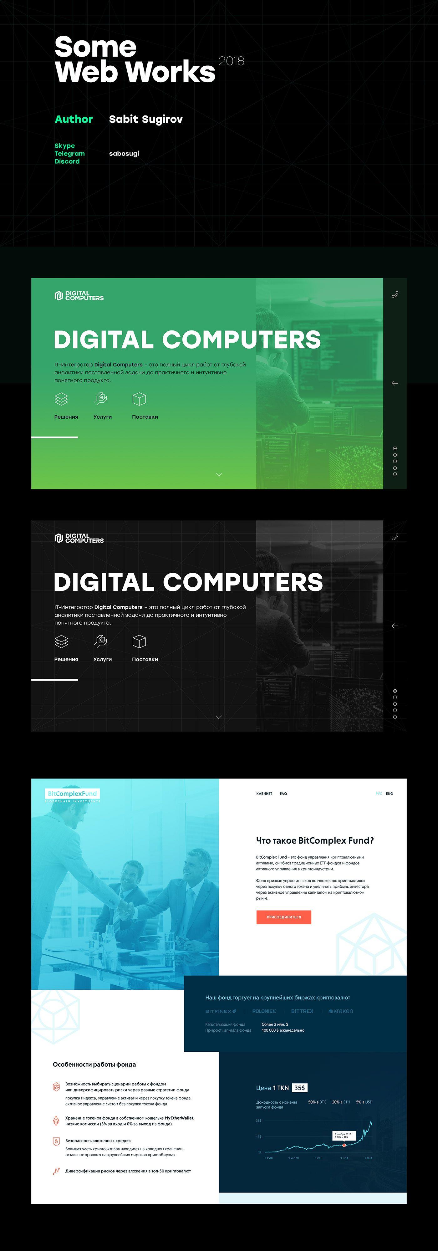 Some Web Works 2018 on Behance Дизайн