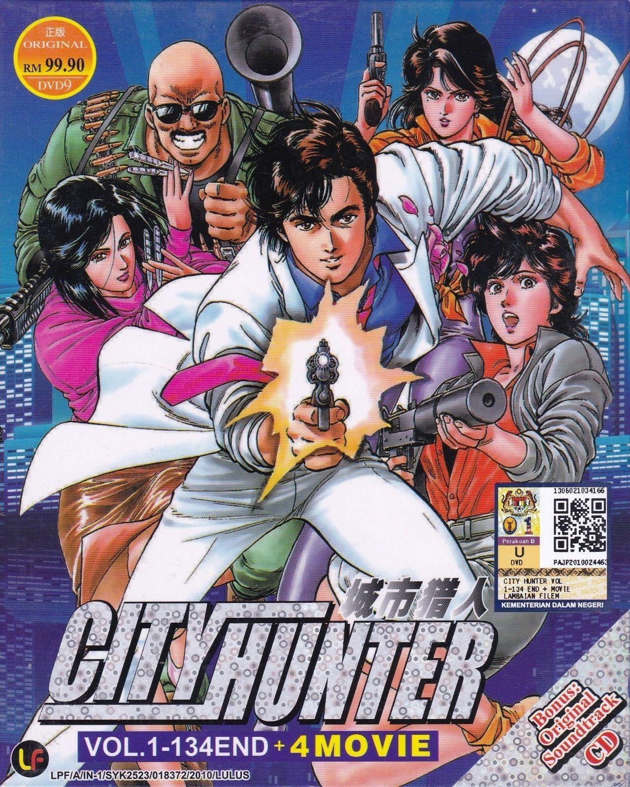 Dvd Anime City Hunter Vol 1 134end 4 Movies English Sub Region All