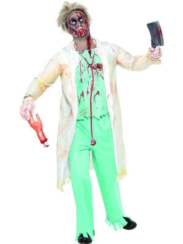 Zombie lääkäri. Zombie Lääkäri on naamiaisasu, joka takaa huomion ja toimii parhaiten Halloweenin aikaan