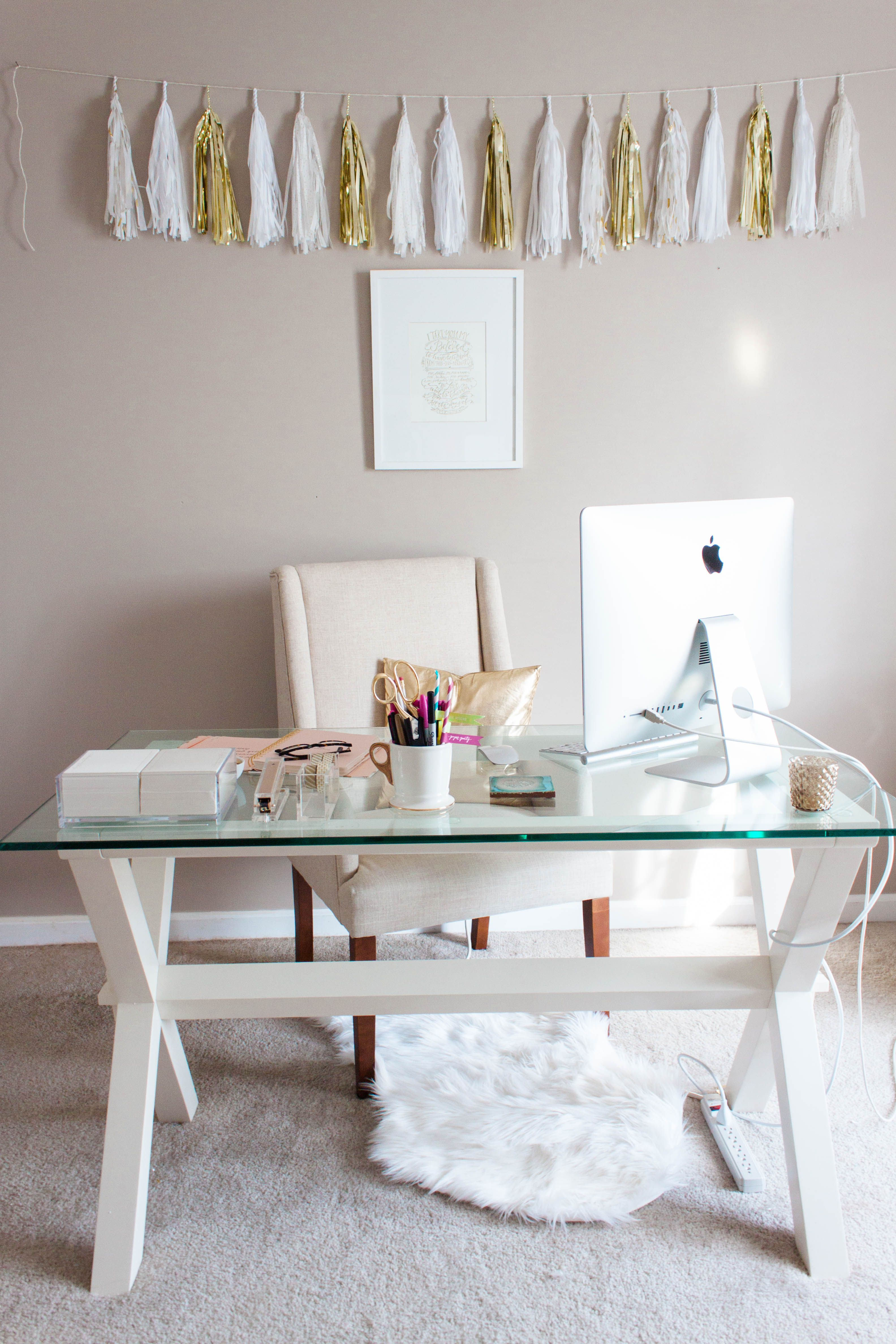 Bonnie Bakhtiari S Pink And Chic Home Office Tour