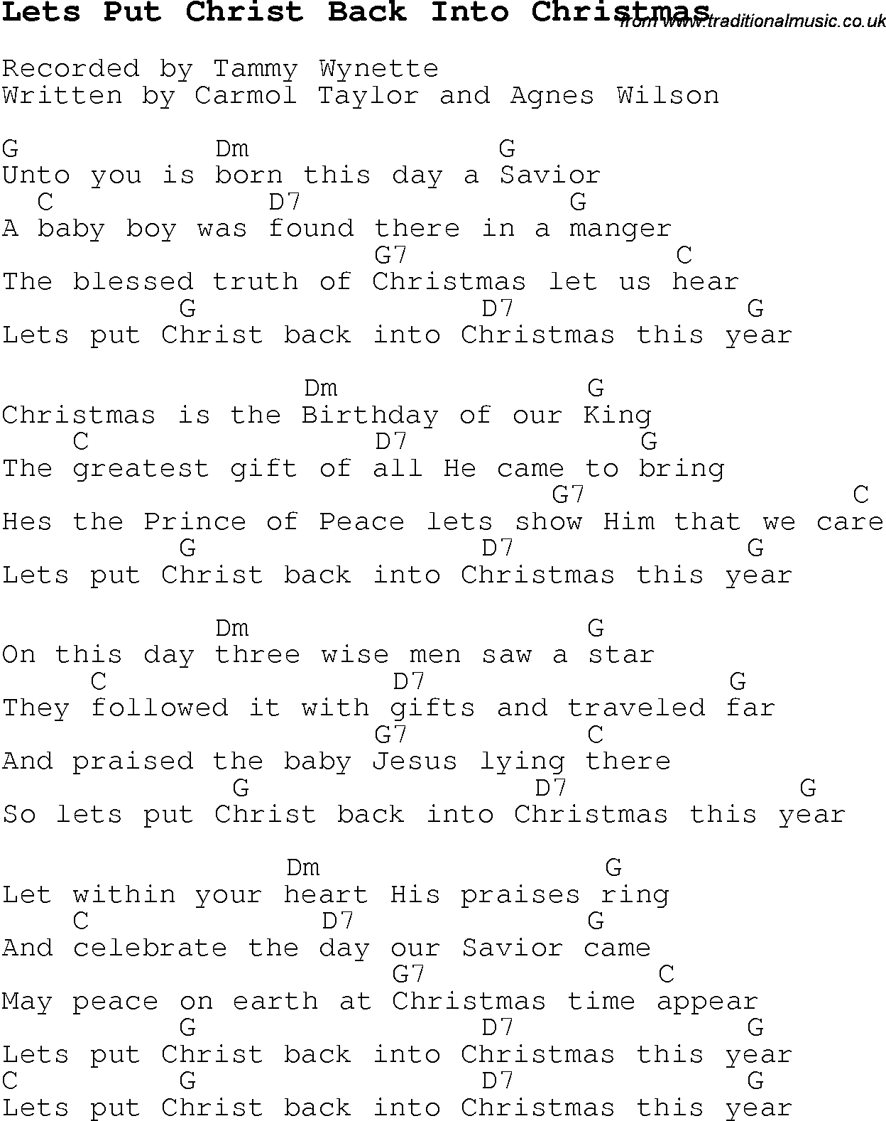 Funny christmas songs song parody parodies4820238534574476g christmas carol song lyrics with chords lets put christ back into christmas hexwebz Images