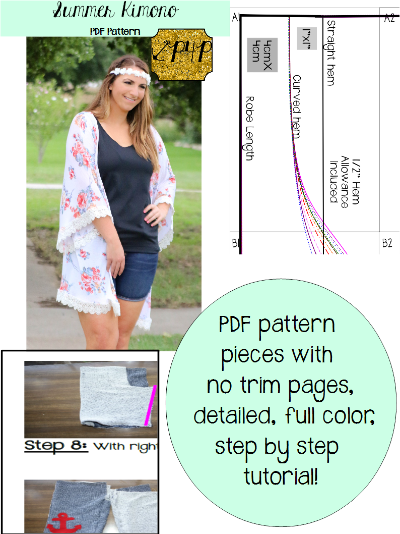 Summer Cover Up Patterns For Pirates Summer Kimono Pdf Sewing