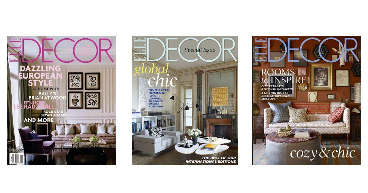 FREE Subscription to Elle Decor Magazine Start
