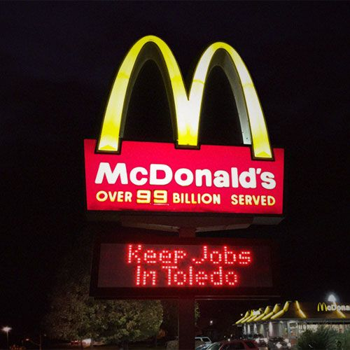 Every Sign Tells A Story Inspirational Videos Signs Mcdonalds