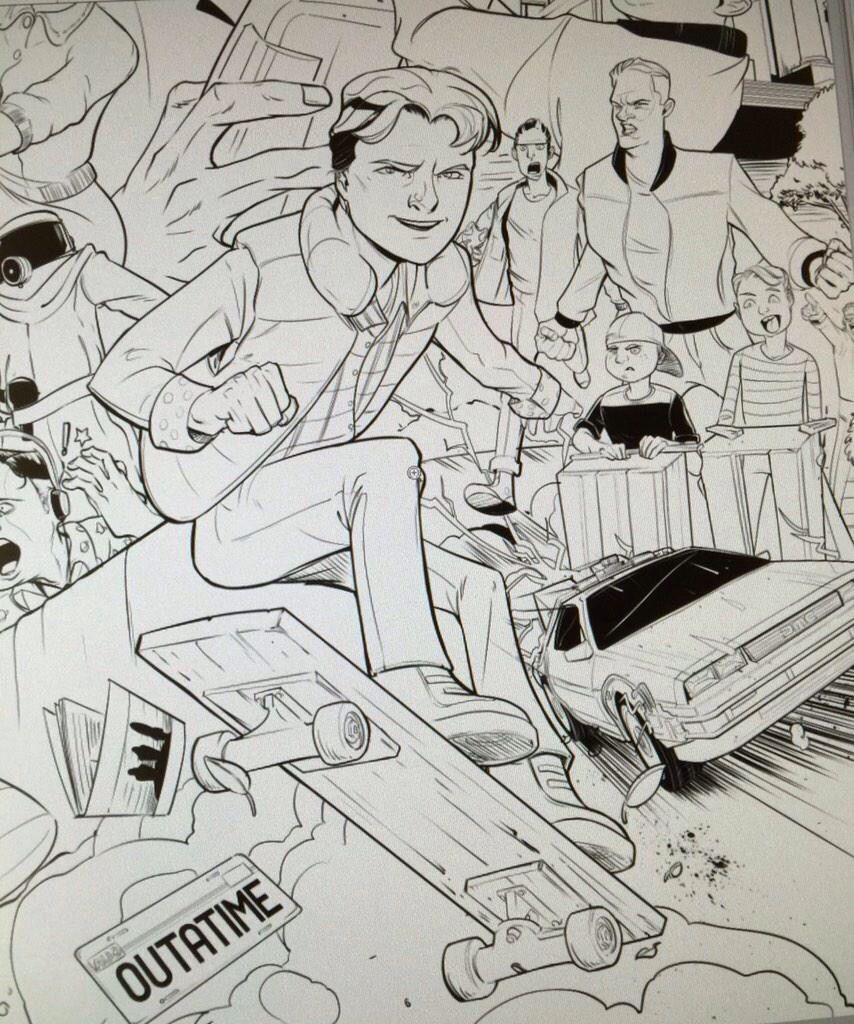 Marty Mcfly By Jackson Gee For Sketch Dailies Sketches Coloring Pages Mcfly