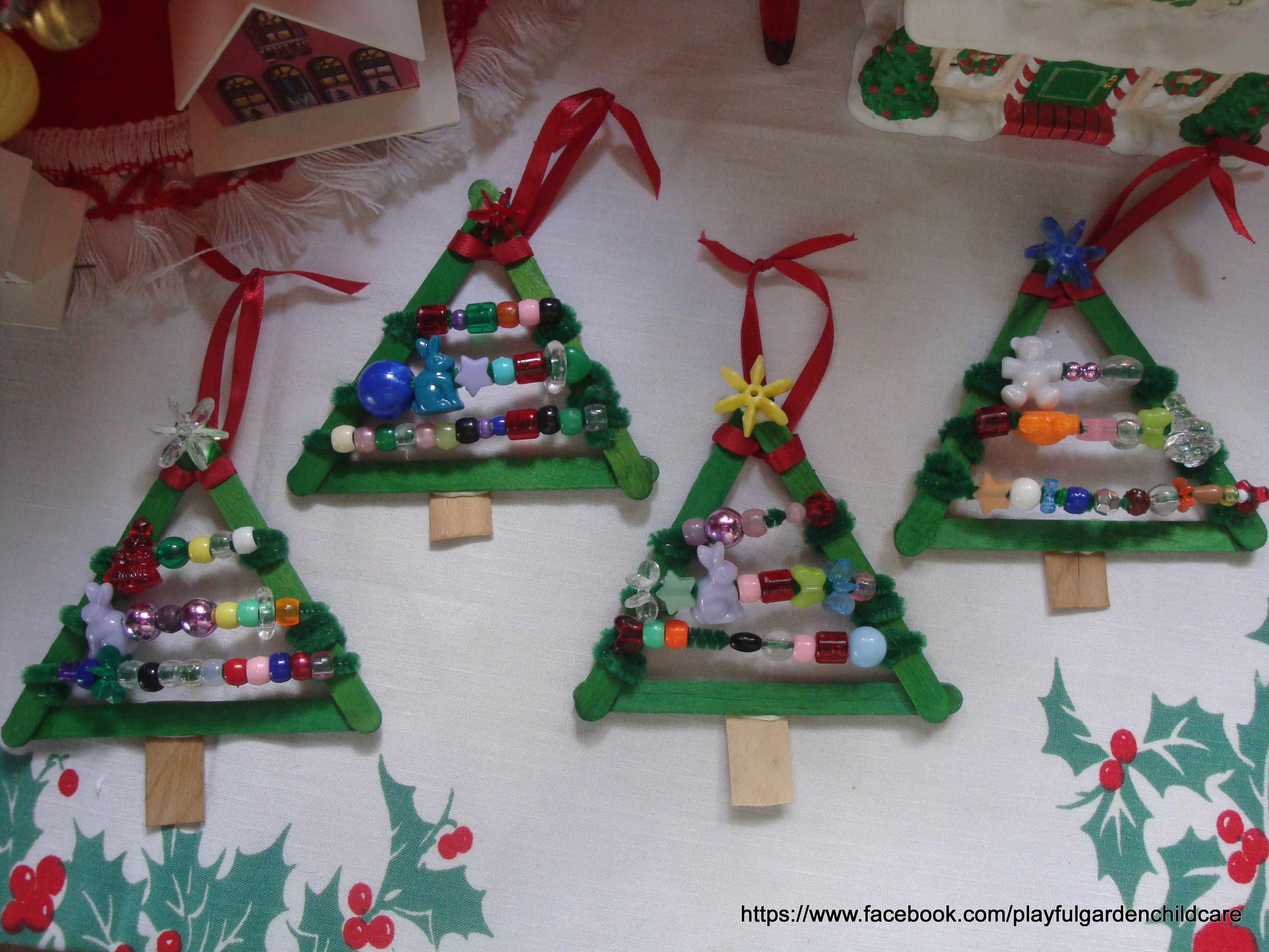 yarn christmas ornaments