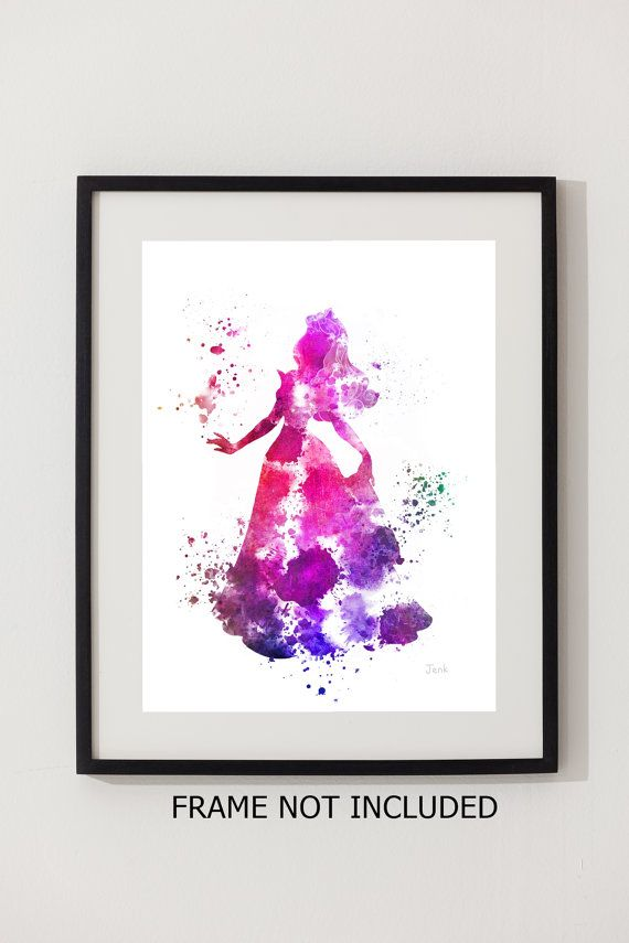 Aurora Sleeping Beauty ART PRINT 10 x 8 illustration by SubjectArt