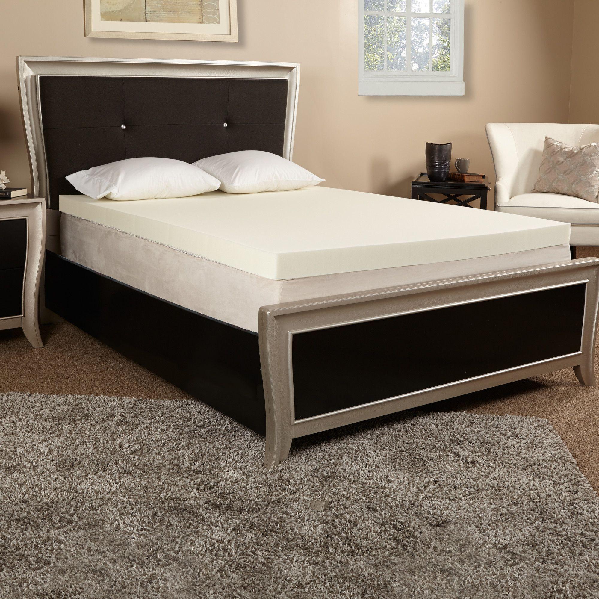 4 memory foam mattress topper college pinterest