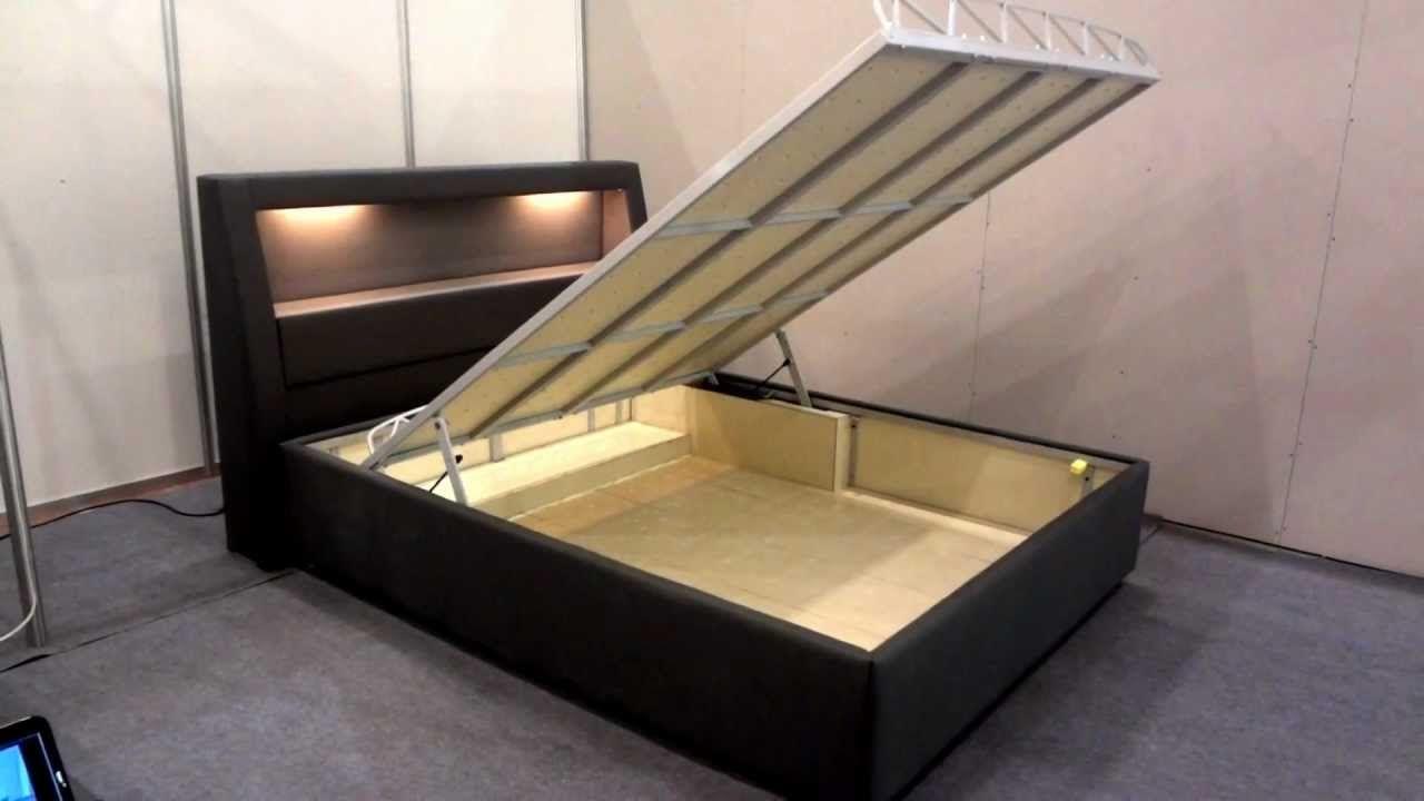 Storage Bed Frame Motorized Lift Full