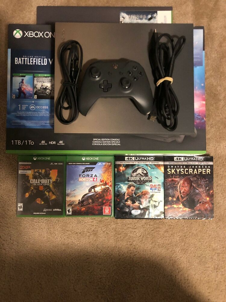 Microsoft Xbox One X 1tb Gold Rush Special Edition With Lots Extras Xboxone Xbox Game Xbox One Xbox One Elite Controller Call Of Duty Black