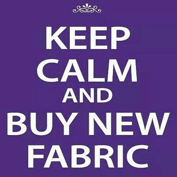 Have you had your  fix today   #tomgquote #tomgfabric #keepcalm #fabriconline #fabricstash #fabricaddict #fabricshopping  http://ift.tt/1VI3q5X