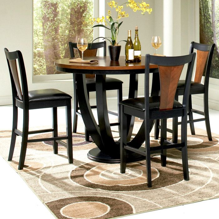 Mayer 5 Piece Counter Height Dining Set With Images Counter