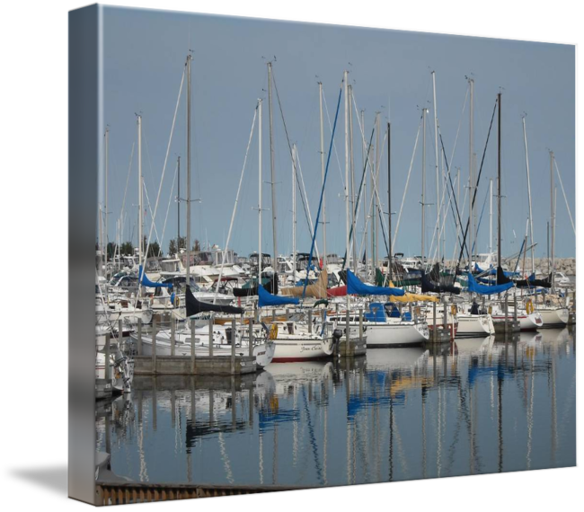"""""""Sail+Reflections""""+by+Roseann+Riggi-Knudson,+Bartlett+//+Sail+Boats+on+Lake+Michigan+in+Kenosha+Wisconsin+//+Imagekind.com+--+Buy+stunning+fine+art+prints,+framed+prints+and+canvas+prints+directly+from+independent+working+artists+and+photographers."""