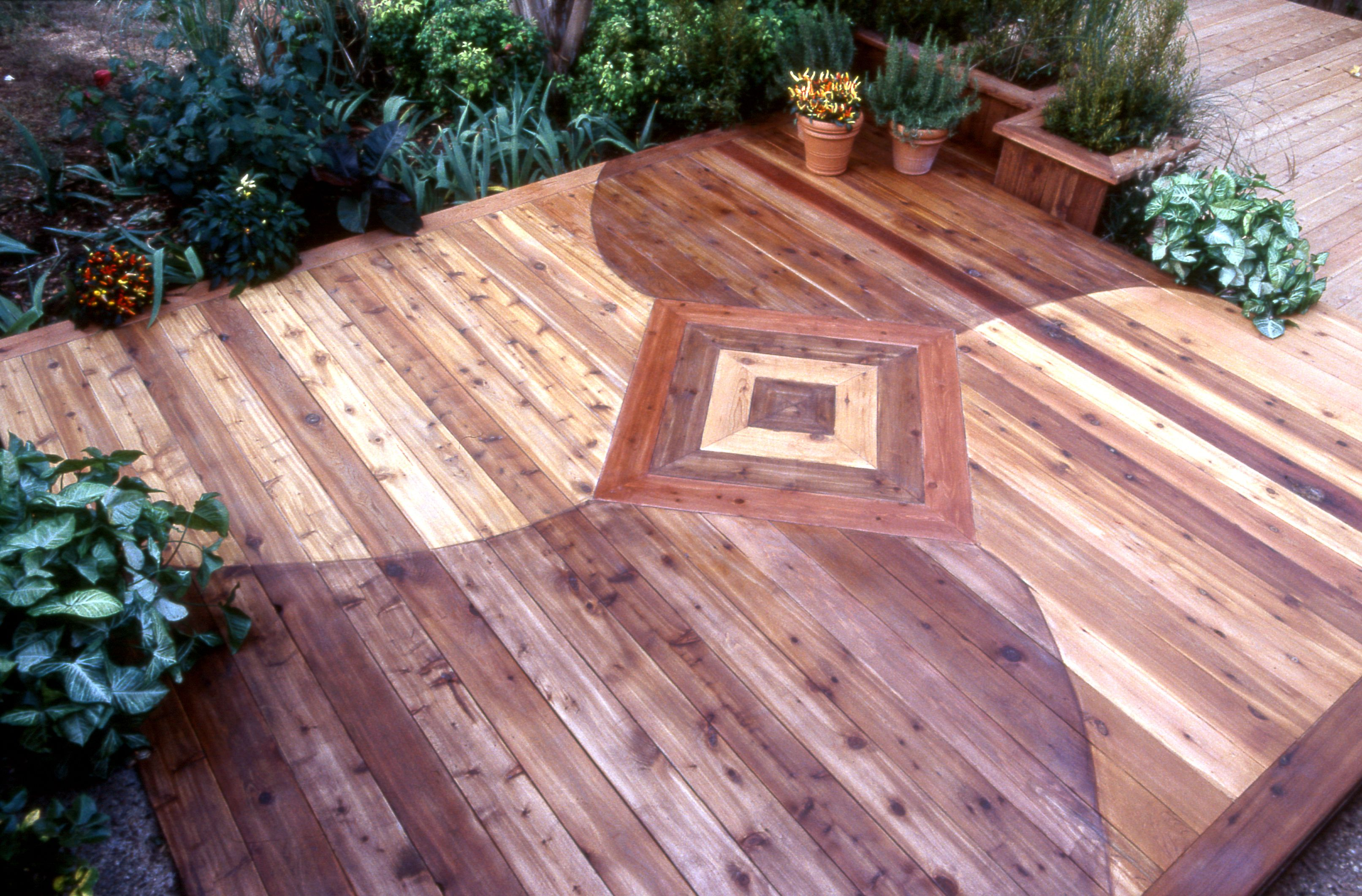 The deck started out as untreated cedar