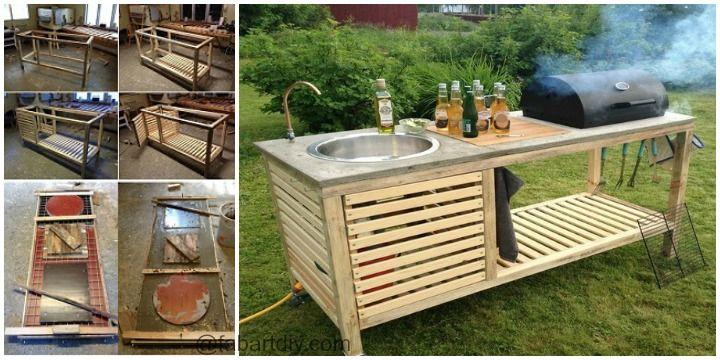 outdoor diy portable kitchen tutorial dreams for my yard pinterest rh pinterest com