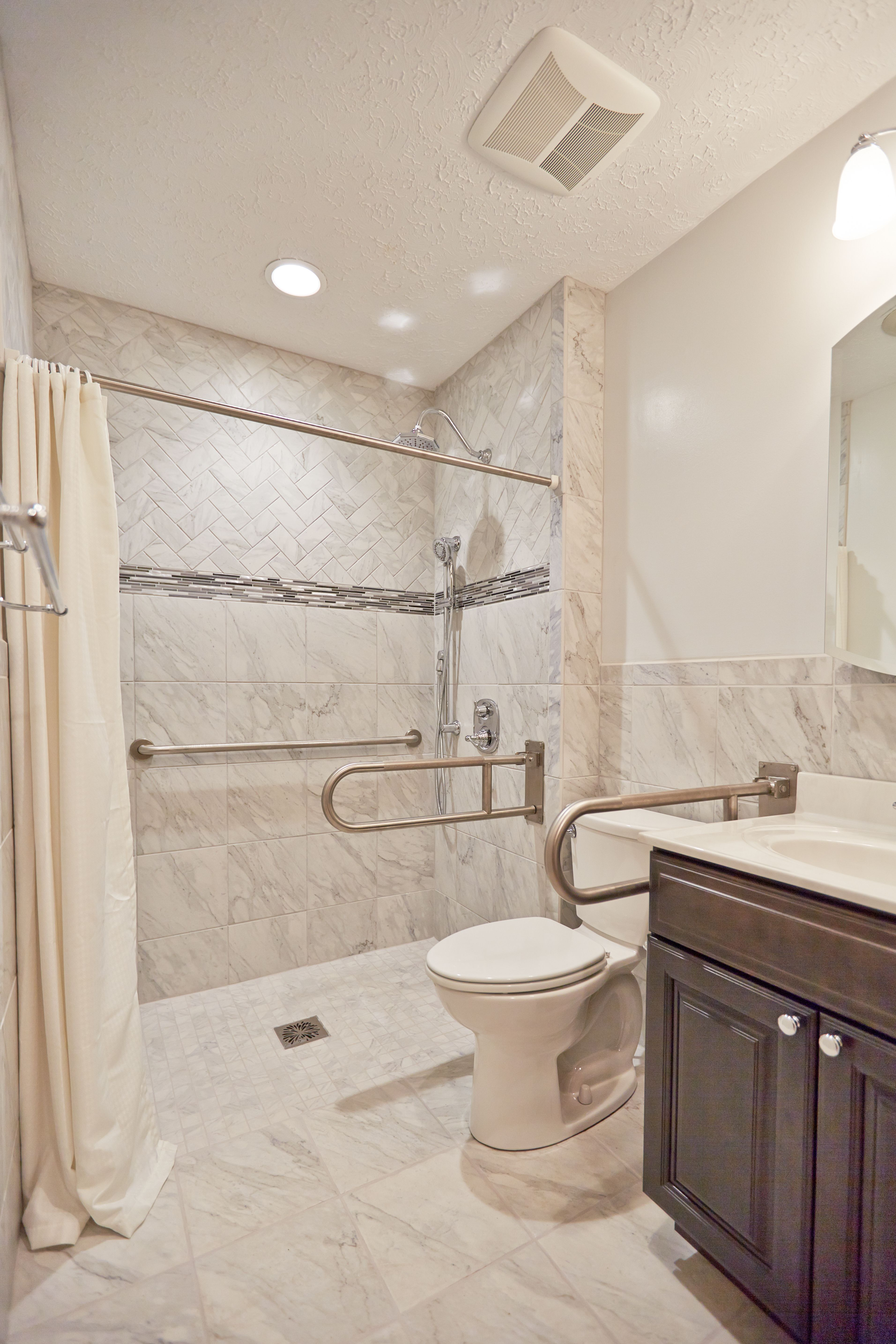 bathroom accessible vanity best bath roll in shower tiled bathroon rh pinterest com
