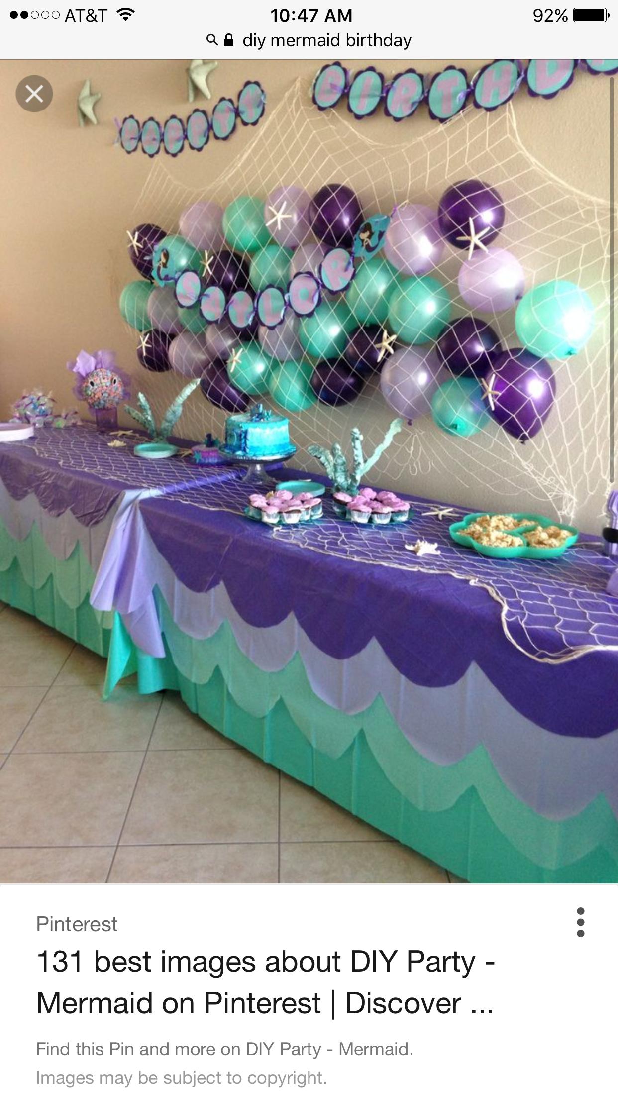 Pin by LaDonna on Lyric birthday Ariel birthday party