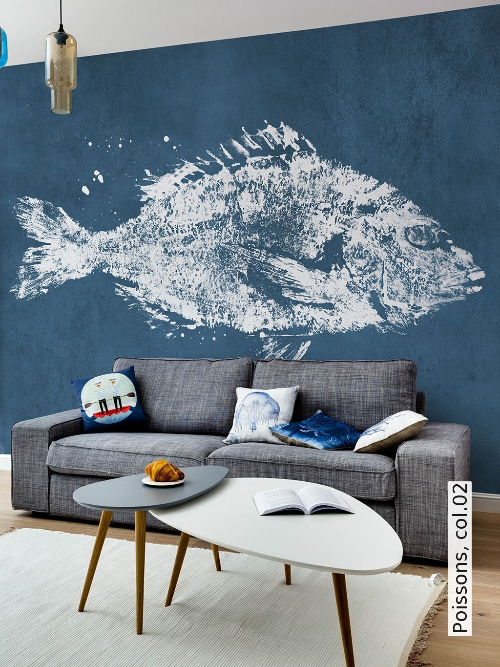 Maritime Tapeten Schlafzimmer Poissons Col 02 Wohnen Wall Prints Home Decor Und Wallpaper