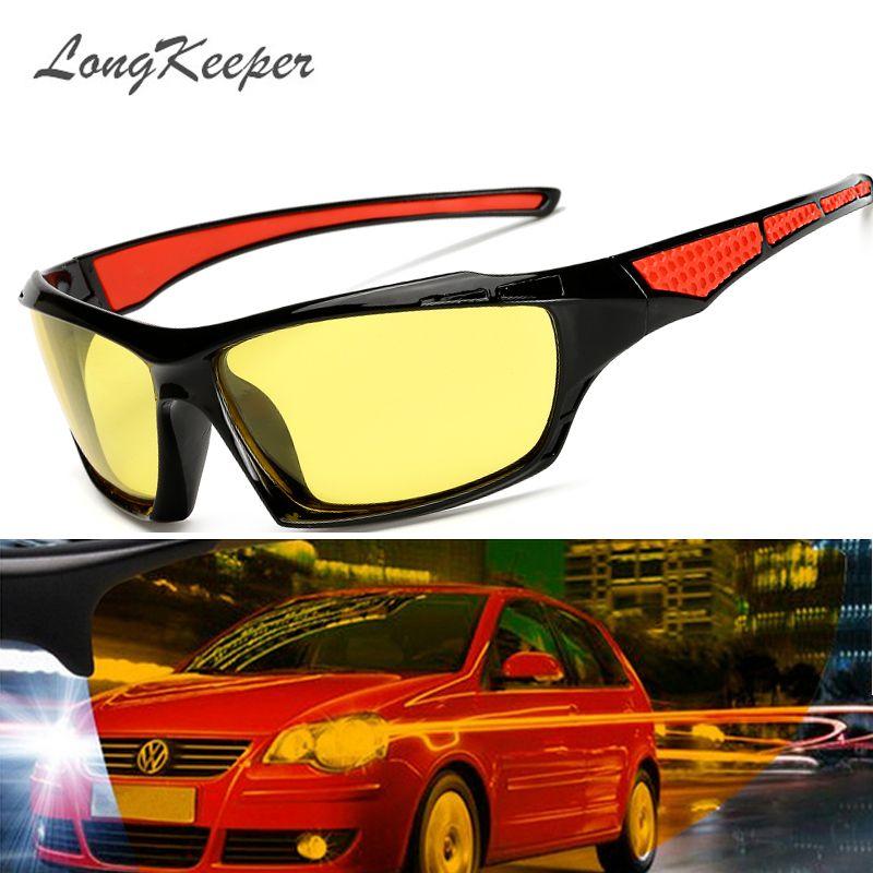 9c467a3ba73 LongKeeper Men Polarized Night Driving Sunglasses Women Brand Designer  Yellow Lens Night Vision Glasses Goggles Reduce Glare Review