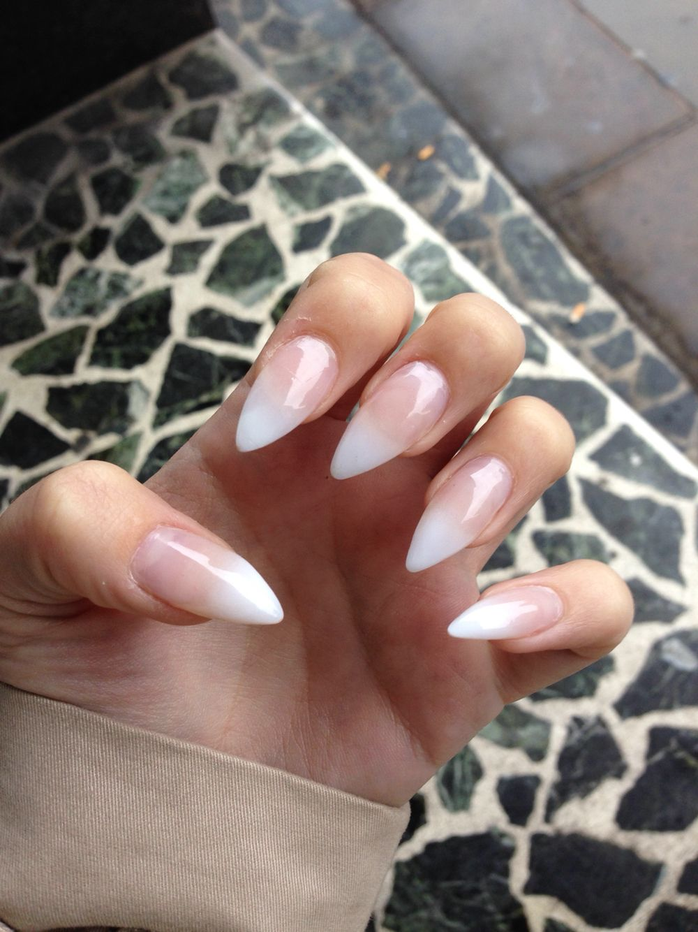 Although simple, I LOVE the faded French manicure, instead of harsh ...