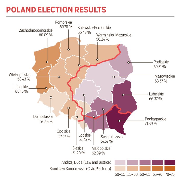 Polands Past Marks Its Present Polands Presidential Election - 2015-us-election-results-map
