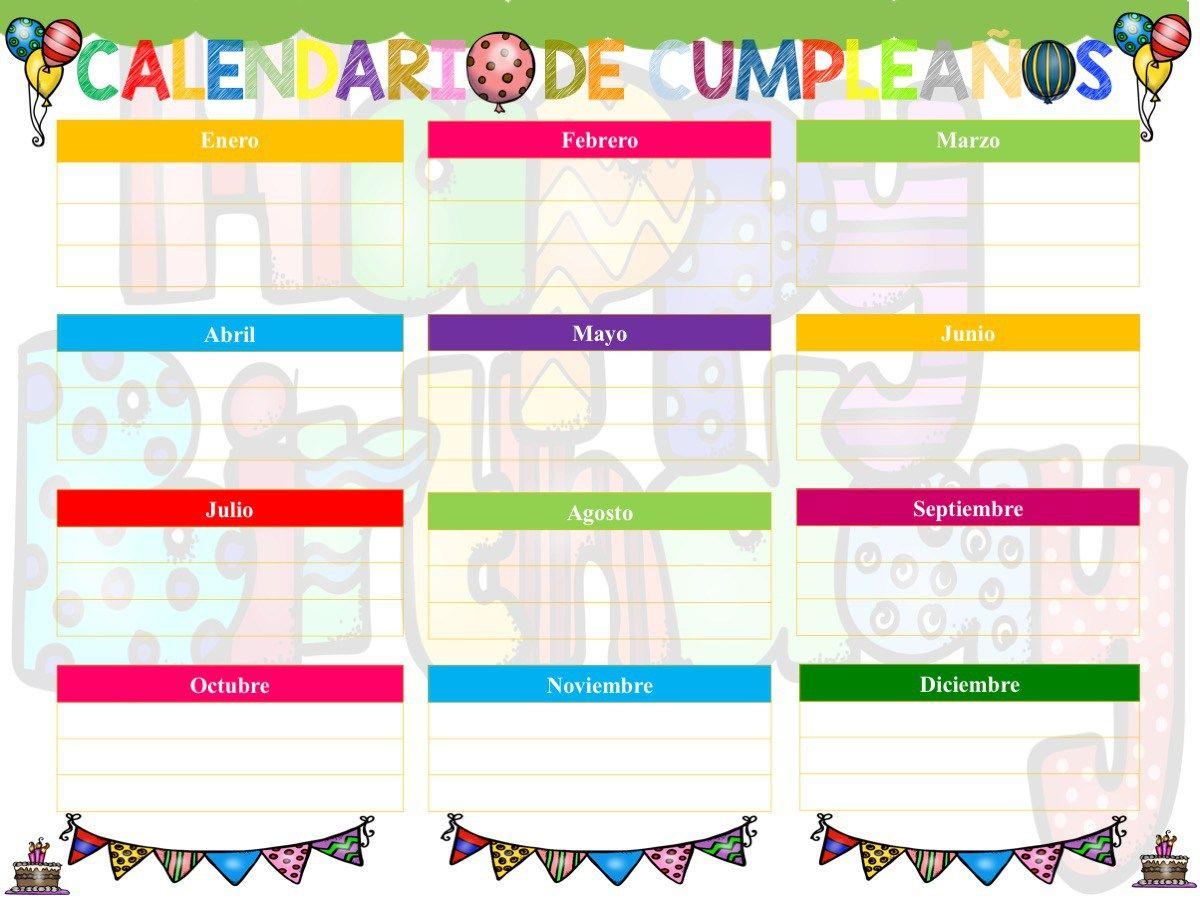 Calendarios de cumpleaños para decorar tu clase en gran formato ...