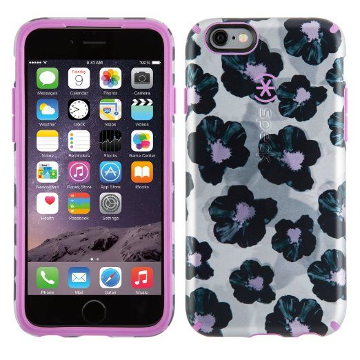 Amazon.com: Speck Products CandyShell Inked Luxury Edition Case for iPhone 6 Plus/6S Plus - Retail Packaging-Platinum Posies/Beaming Orchid Purple: Cell Phones & Accessories