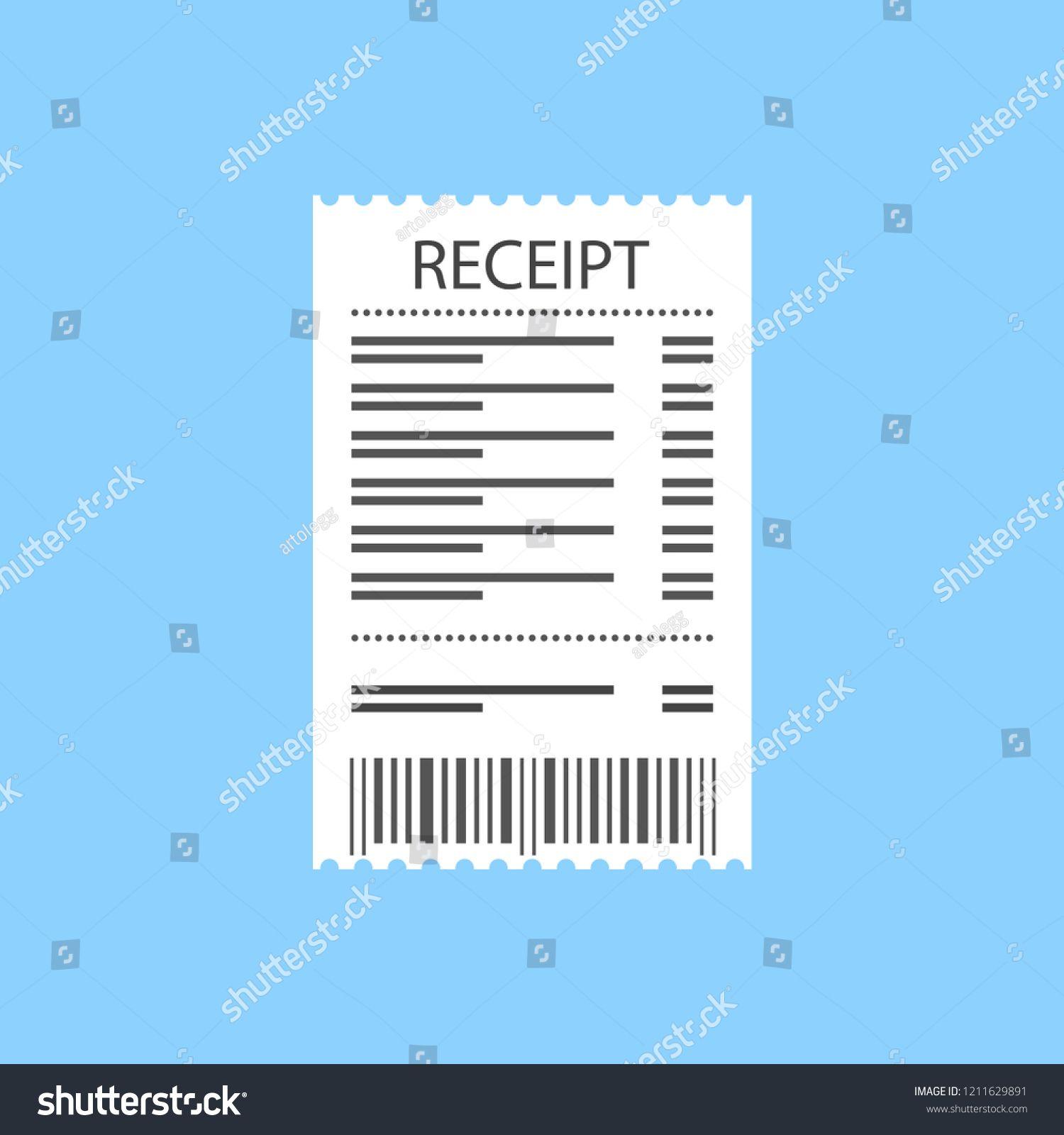 Receipt Icon Supermarket Paper Receipt Vector Illustration Supermarket Icon Receipt Paper Vector Illustration Photography Tutorials Supermarket