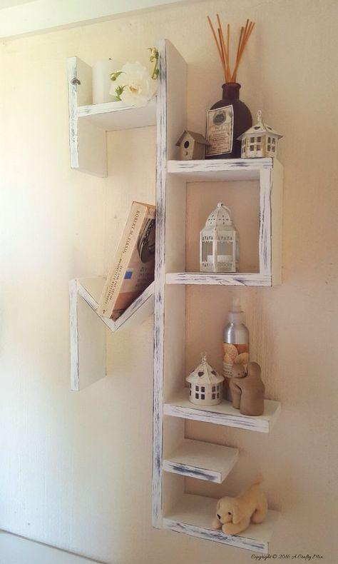how to build a diy home display shelf rustic pinterest diy rh pinterest com
