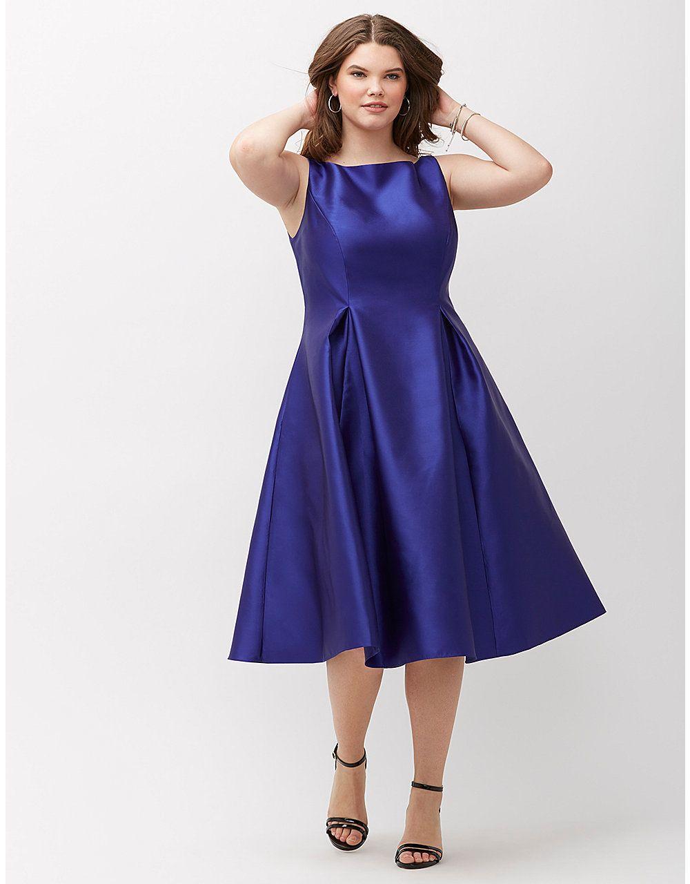Satin midi dress by Adrianna Papell | Lane Bryant