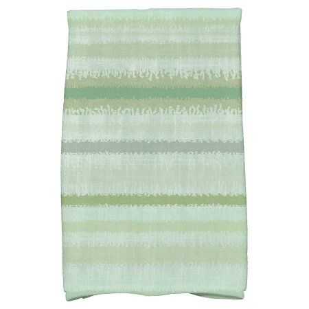 Simply Daisy 16 Inch X 25 Inch Raya De Agua Stripe Print Hand Towel Green Hand Towels Towel Stripe Print