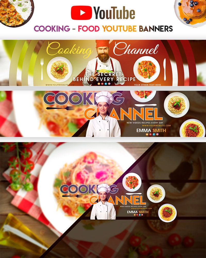 Cooking Food Youtube Banners No Cook Meals Youtube Banners Food Banner