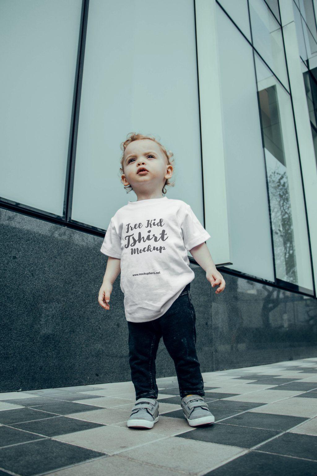 Download Free Young Kid T Shirt Mockup Mockuphero Shirt Mockup Kids Tshirts Tshirt Mockup