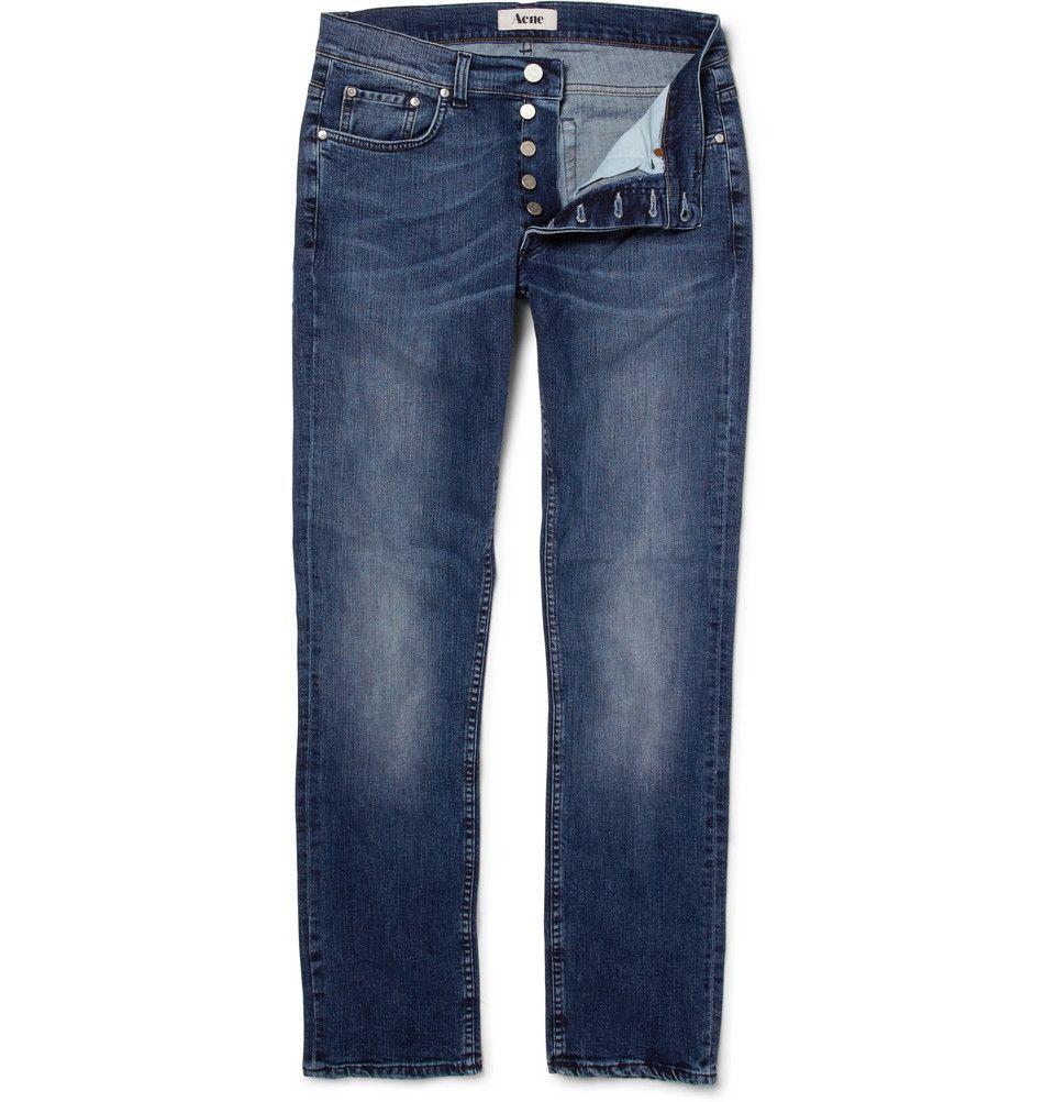 Acne Roc the Boat Slim-Fit Worn Jeans | MR PORTER