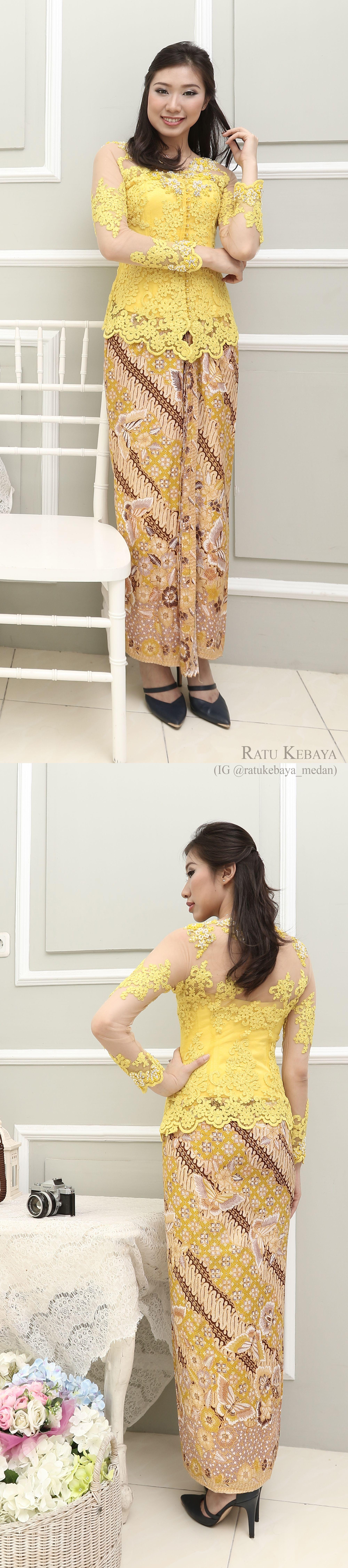 Inspirasi kebaya ratukebayamedan Padanan lace dan batik