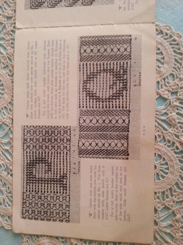 u0027Pu0027u0026u0027Qu0027 huck letters Weaving DesignsSwedish WeavingLettersSwedish