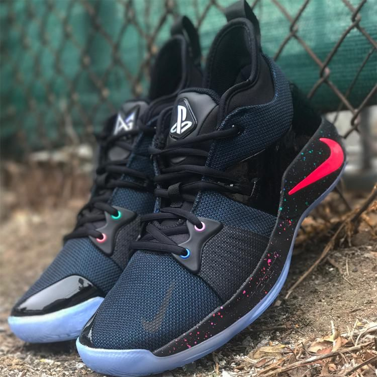 85d0e071ba75 NIKE PG 2 PLAYSTATION BLACK RACER BLUE PAUL GEORGE NBA OKC AT7815 002  nba