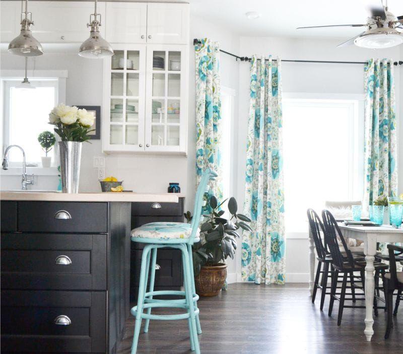 Blue color in kitchen interior design Blue