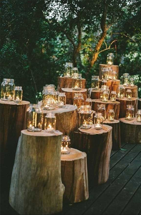 Romantic outdoor wedding decorations