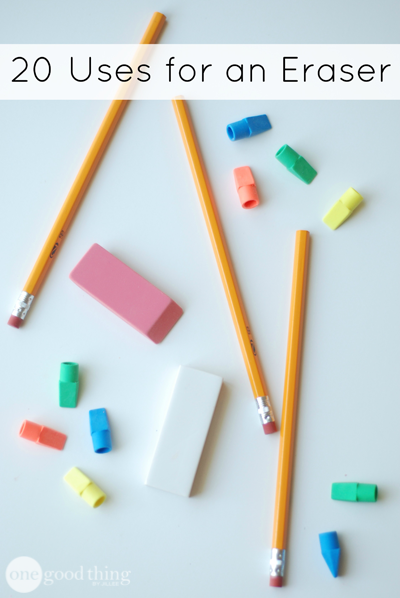 If you rarely use pencils to write (and erase) anymore, they can still be useful for other things. Erasers actually have lots of cool uses around the house. Try out some of these creative ideas!
