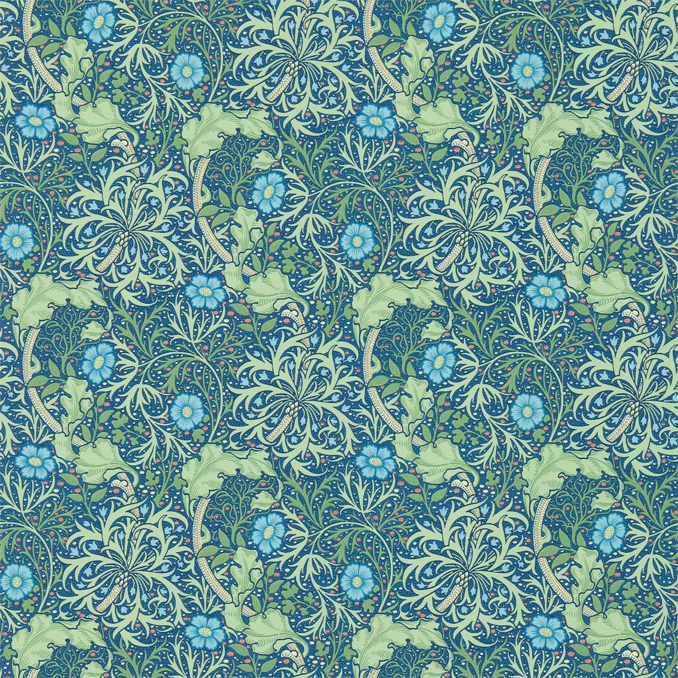 Morris & Co Seaweed Wallpaper Morris wallpapers, Poppy