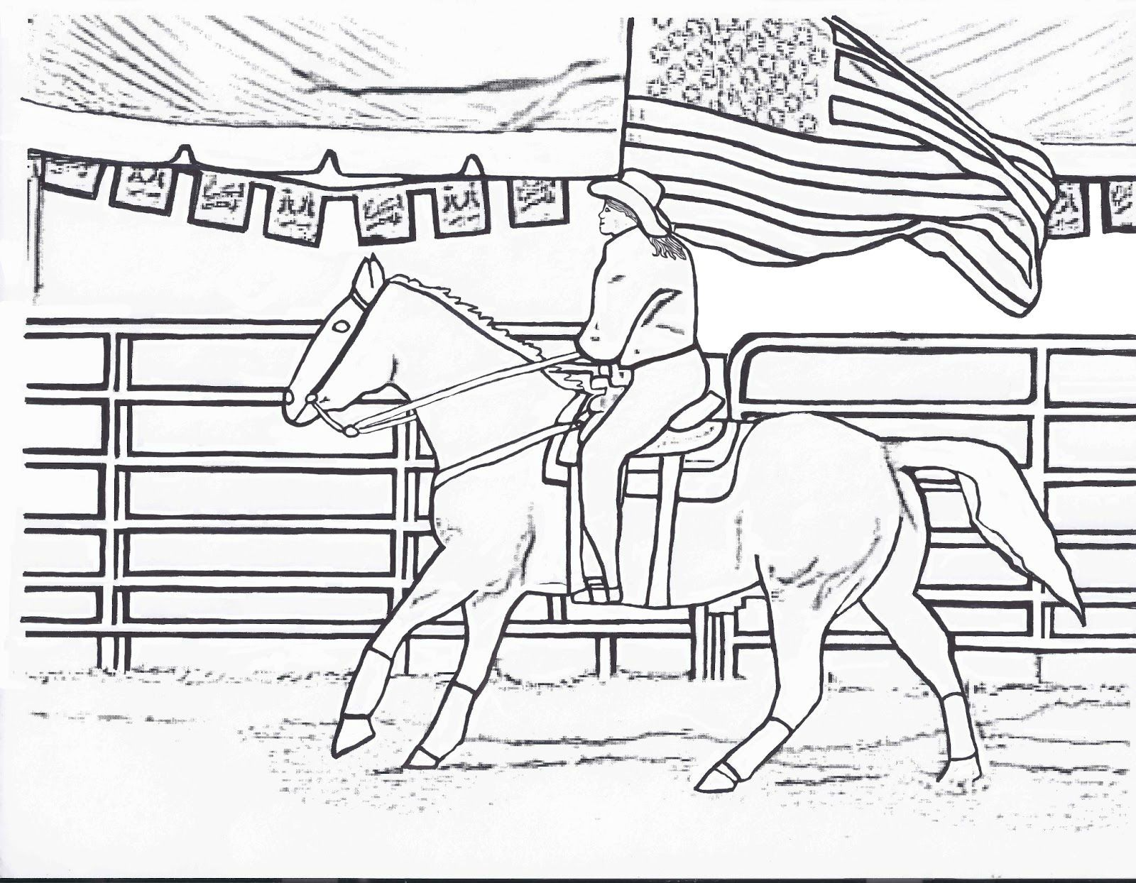 girl riding horse coloring pages - photo#25