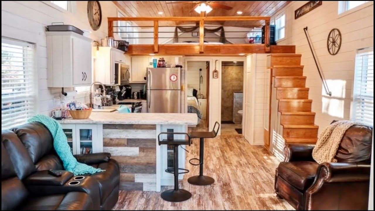 Stunning 2 Bedroom Park Model Cabin With A Great Floor Plan Tiny House Big Living Small House Plans Tiny House Design
