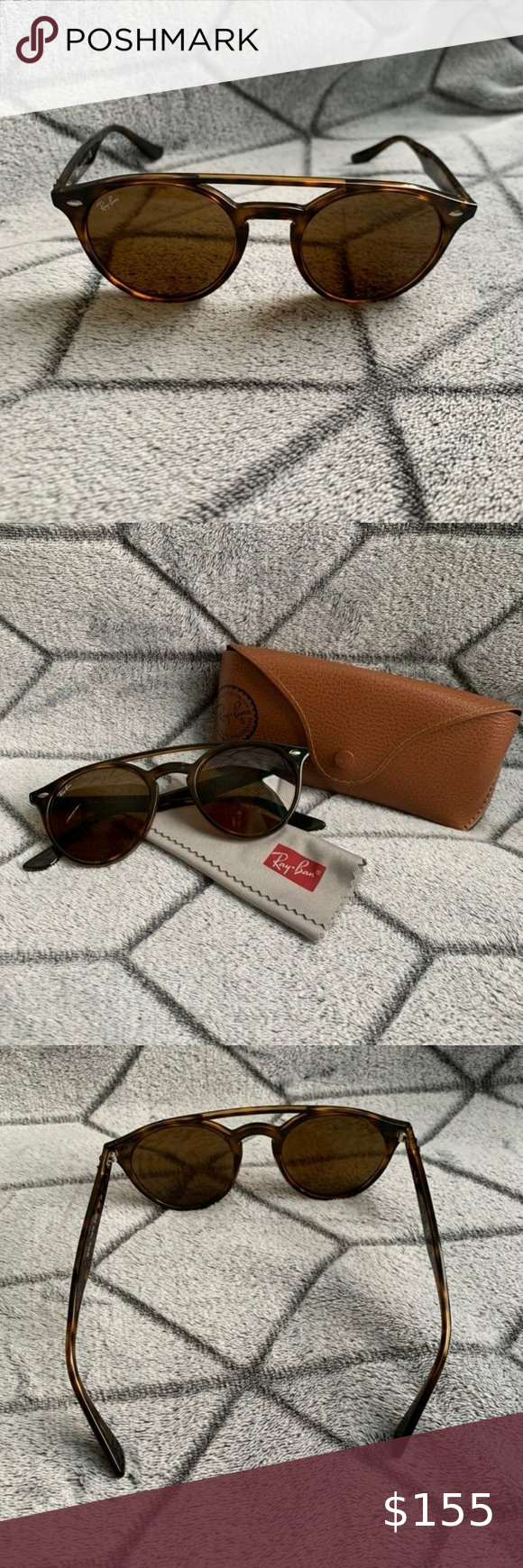 Ray Ban Sunglasses Rb4279 601 71 Brand New The Frame Is Brown Tortoise And The Lenses A Vintage Aviator Sunglasses Fashion Sunglasses Round Metal Sunglasses
