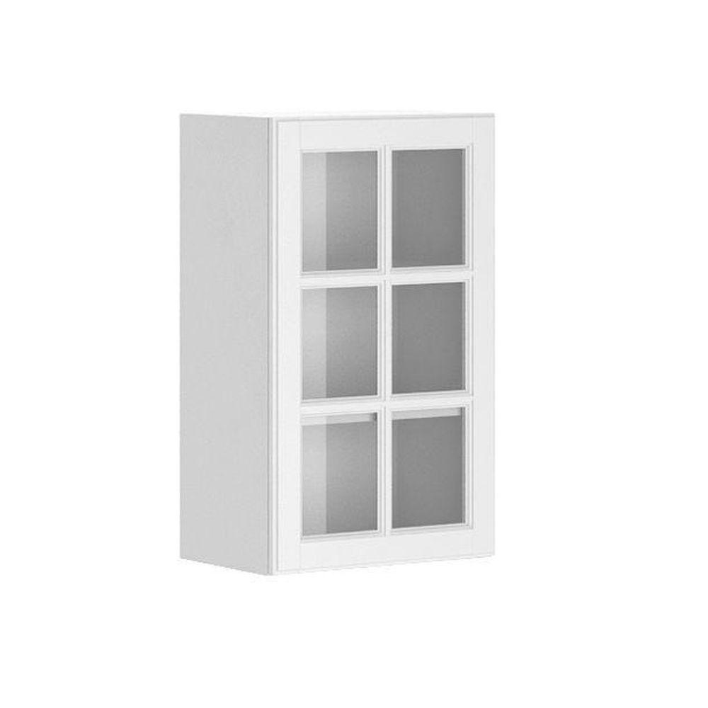Ready To Assemble 18x30x12 5 In Birmingham Wall Cabinet In White Melamine And Glass Door Kitchen Cabinets Home Depot Wall Cabinet Glass Kitchen Cabinet Doors